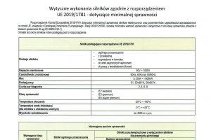 Nowe wytyczne Komisji Europejskiej w zakresie minimalnej sprawności silników elektrycznych